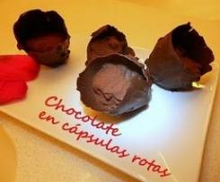 Chocolate en cápsulas rotas