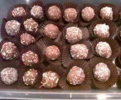 Bolitas de galleta y chocolate