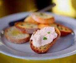 Paté de salmón y queso
